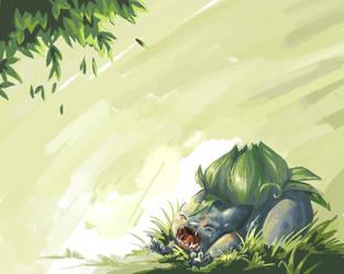 Pkmn: Bulbasaur Wallpaper by Serain
