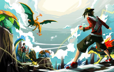 Versus Red (Battle on Mt. Silver) by Serain
