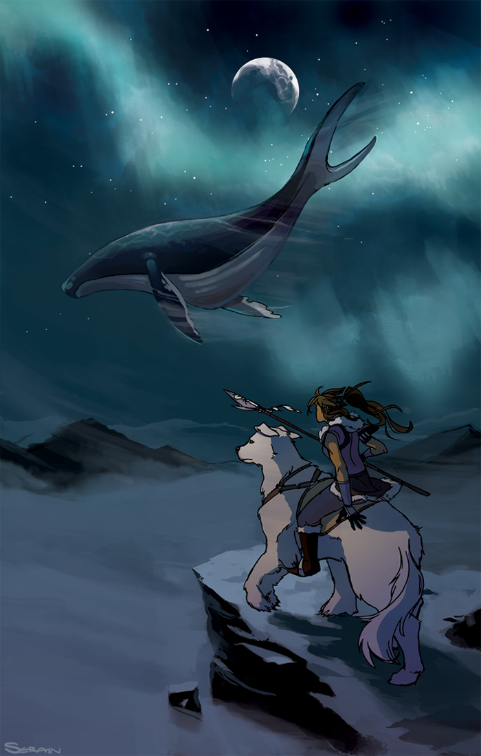 Sky Whale Drawing