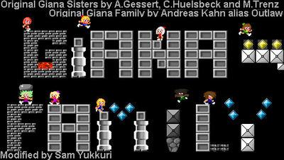 Giana Family - GF title screen remastered by Yukkurifan64