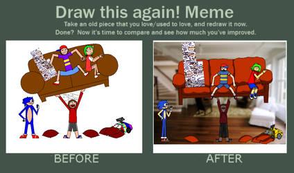 Draw this again meme : WHISSSBITV by Yukkurifan64