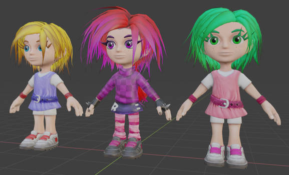 Cute Giana, Punk Giana and Maria model