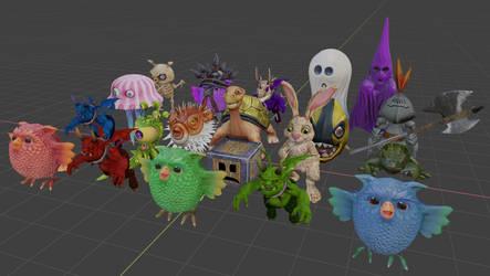 GSTD enemies models