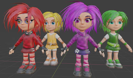 Cute and Punk Giana with their Dream Runners skins