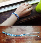 Friendship bracelet Blue Hearts