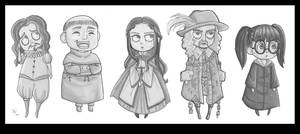 Ghosts of Hogwarts by batteryfish