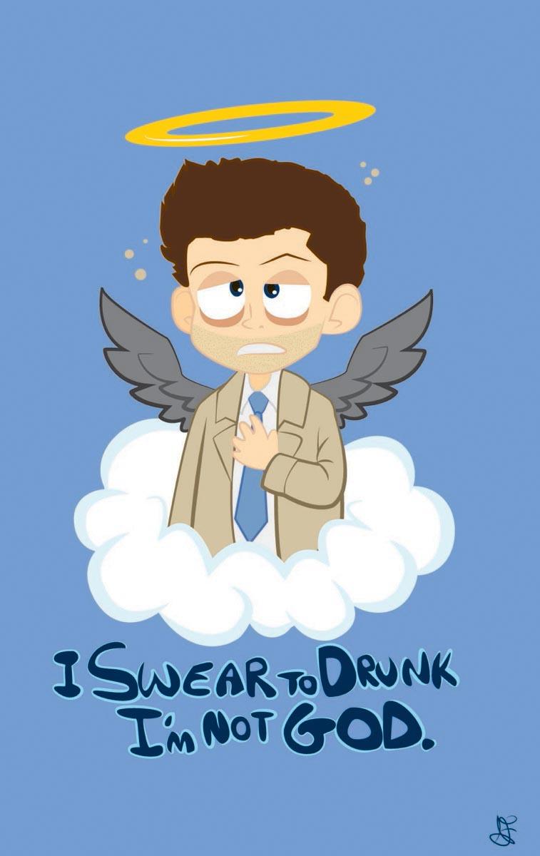 Supernatural - I Swear to Drunk I'm not God by batteryfish