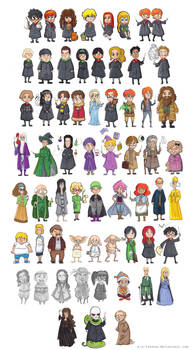 Harry Potter - Characters by batteryfish