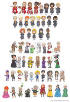 Harry Potter Characters Part 2 by batteryfish