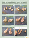 How to sculpt paws