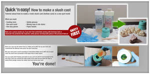 How to make a resin cast in a one-part mold