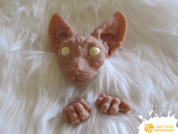 Sneak Peek Posable Sphynx Cat by LimitlessEndeavours