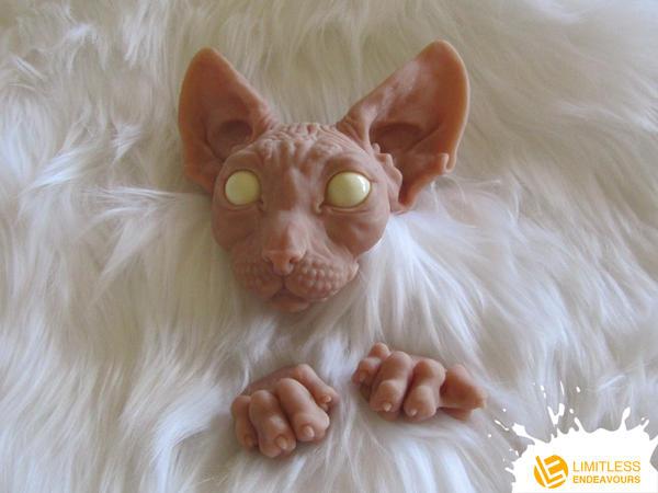 Sneak Peek Posable Sphynx Cat by LimitlessEndeavours