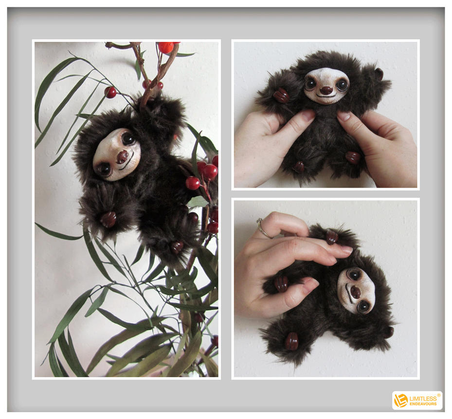 Pose-able Earth Mini Sloth by LimitlessEndeavours