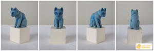 Wooden Totem Cat by LimitlessEndeavours