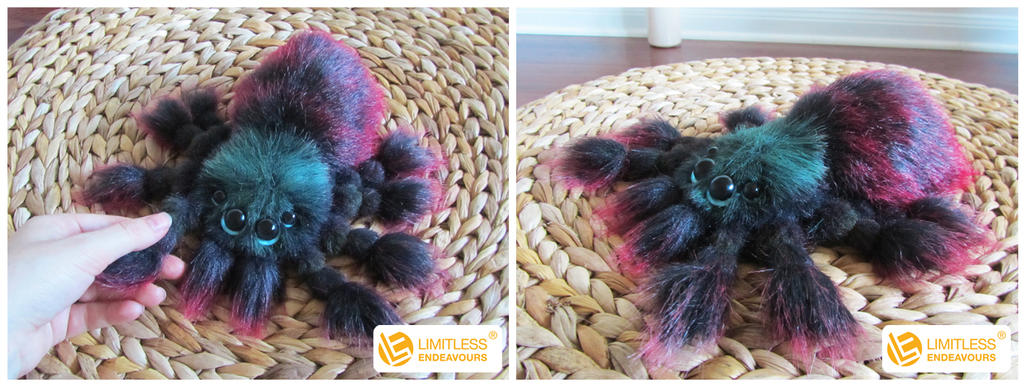 Antilles Pinktoe Tarantula Plush by LimitlessEndeavours