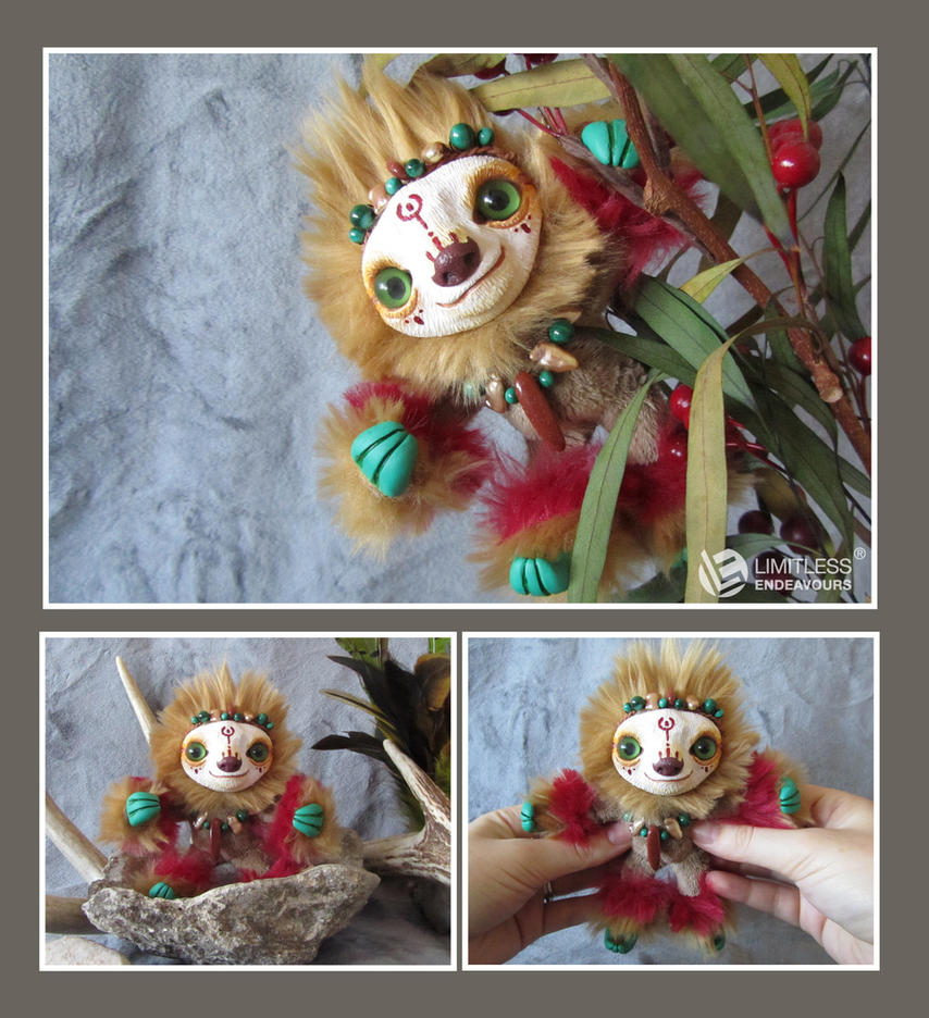 Jungle Mini Sloth by LimitlessEndeavours