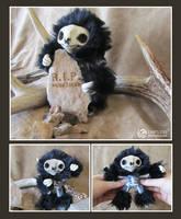 Skeleton Mini Sloth by LimitlessEndeavours