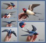 Wooden Barn Swallow