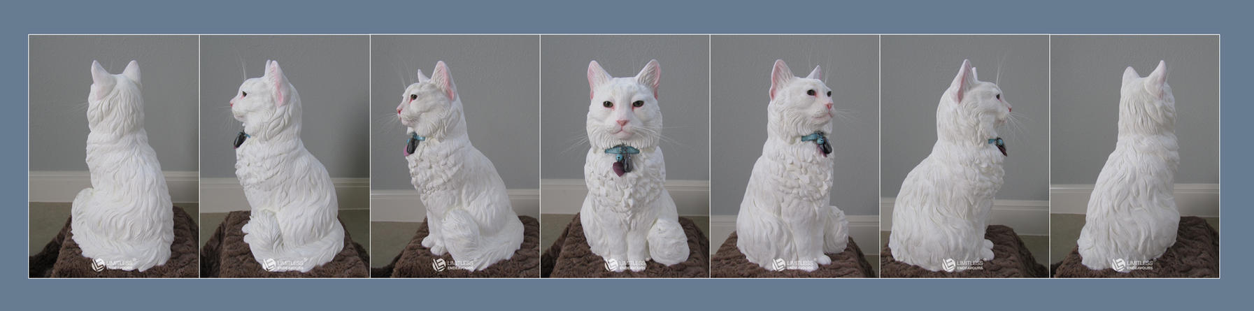 Commissioned Cat Urn TURNAROUND by LimitlessEndeavours