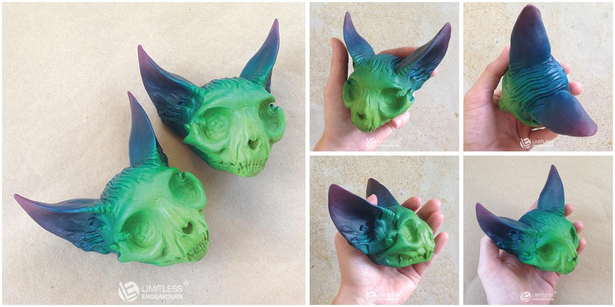 Aura Cat Skulls by LimitlessEndeavours
