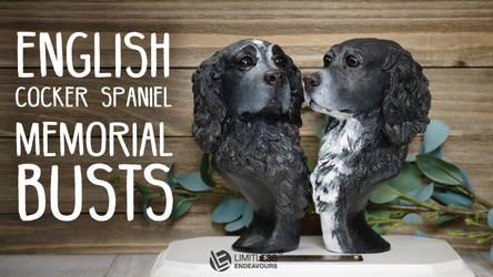 English Cocker Spaniel Memorial Bust