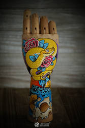 Tattooed Articulated Hand