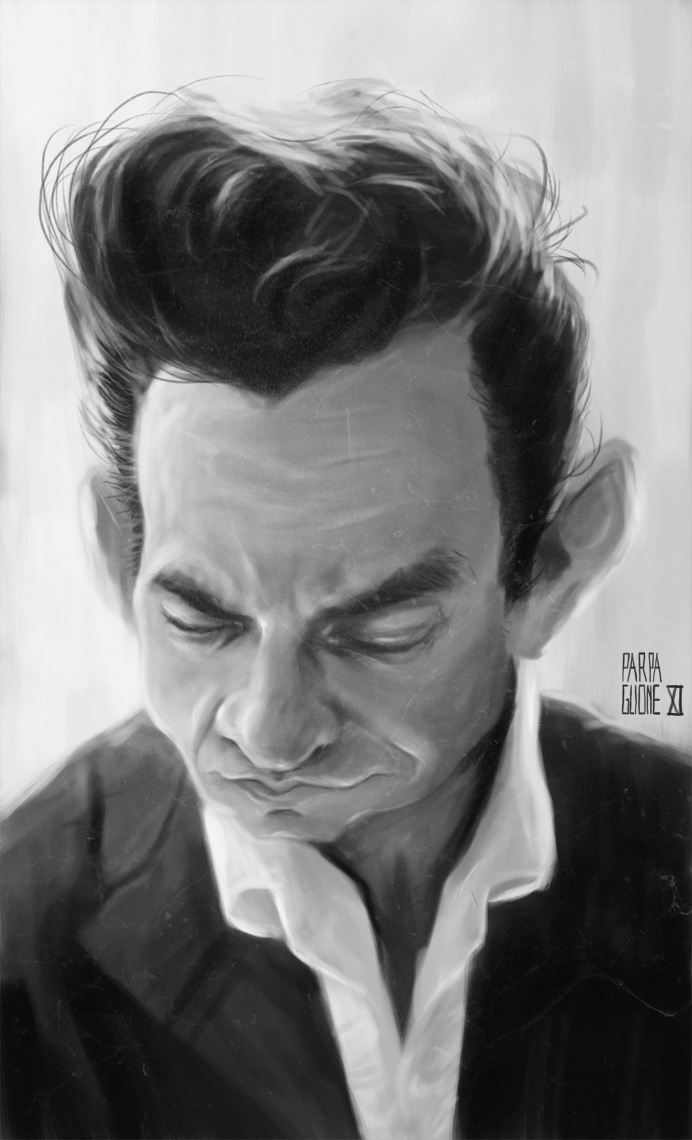 Johnny Cash 3 by Parpa