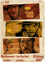 The Good The Bad And The Ugly... Poster by Parpa