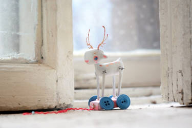 white deer white winter by da-bu-di-bu-da