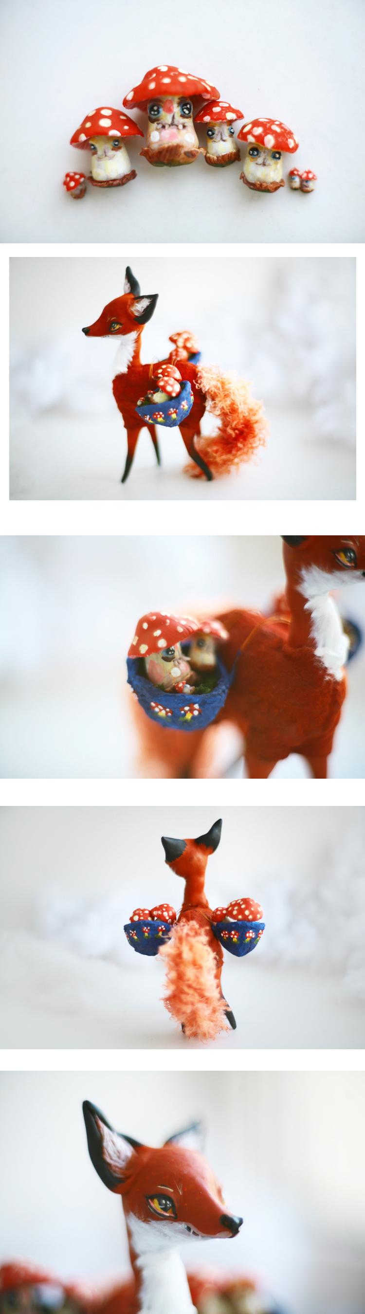 mushrooms and the fox by da-bu-di-bu-da