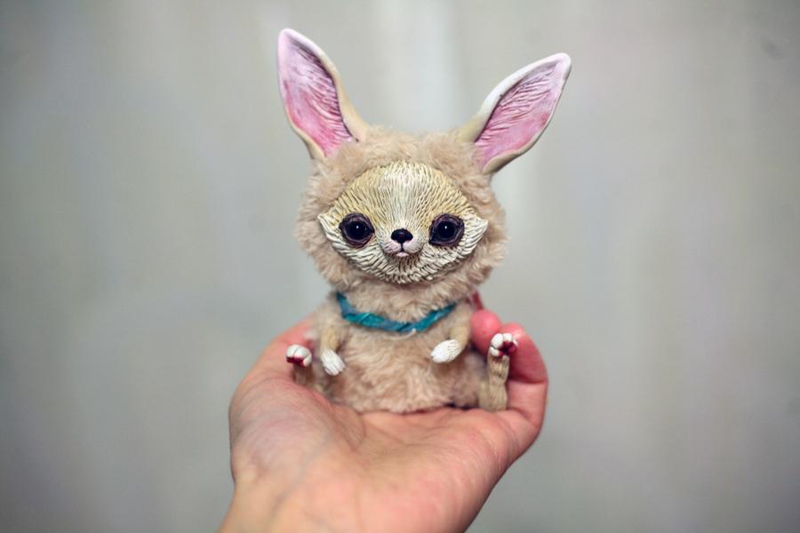 White Baby Fennec Fox