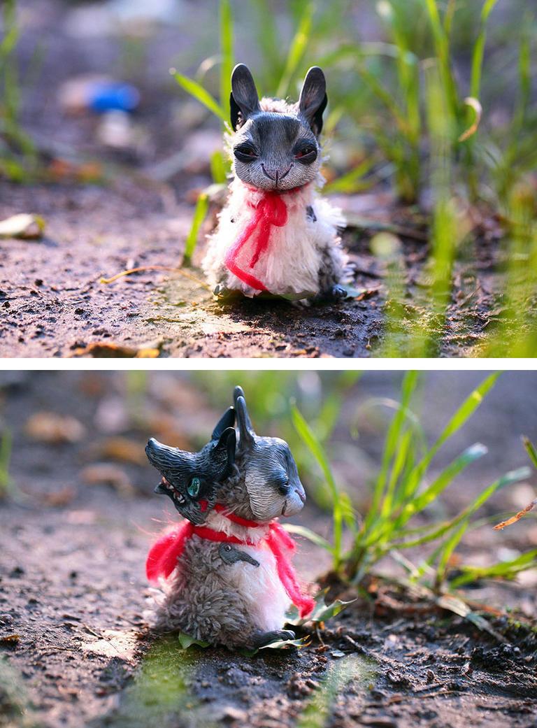 rabbit in a wolf mask by da-bu-di-bu-da