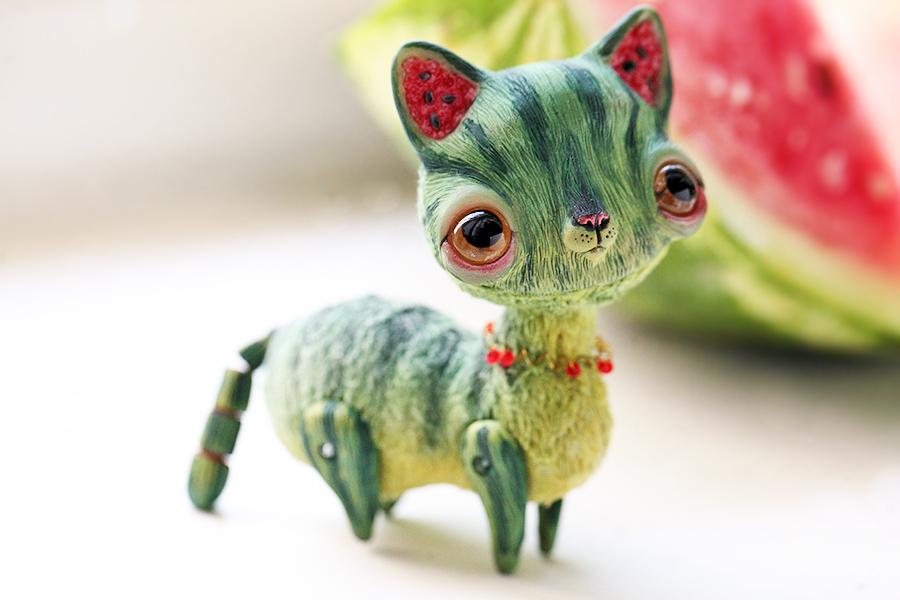 watermelon cat by da bu di bu da on deviantart