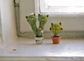 cacti kitties by da-bu-di-bu-da
