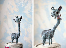 blue giraffe by da-bu-di-bu-da