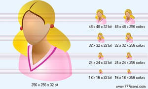 Adult patient-girl Icon by medical-vista-icons