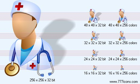 Physician with shadow Icon by medical-vista-icons
