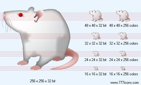 Rat Icon by medical-vista-icons