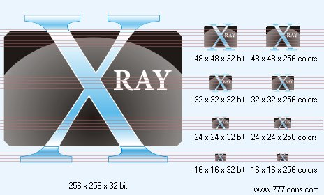X-ray Icon by medical-vista-icons
