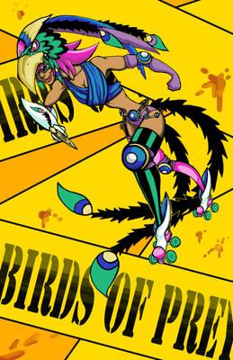 Roller Derby Girl Poster