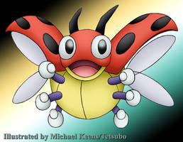 Pokemon 165 Ledyba by Tetsubo