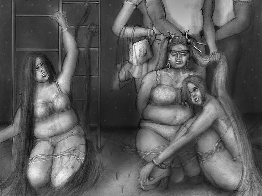 bound fat girls by hair59