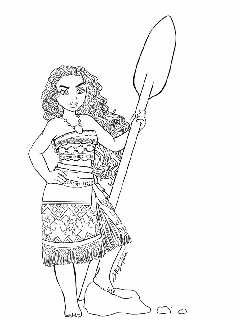 One Line Body Art : Moana line art by meghandzurichko on deviantart
