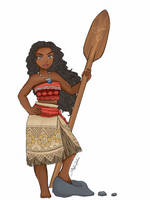 Moana Colored by NutmegIllustrations