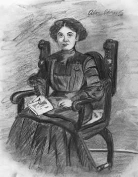 Alice Christy Pencil Portrait