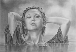 Pencil drawing of Tessa by LateStarter63