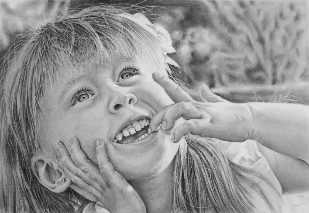 Pencil portrait of Anastasiya by LateStarter63