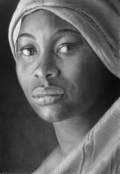 Pencil portrait of Aminanta