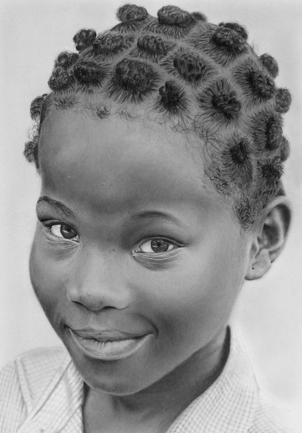 Pencil portrait of a girl from Togo by LateStarter63 on ...